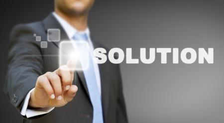 tech: Concepto de soluci�n de negocios Foto de archivo