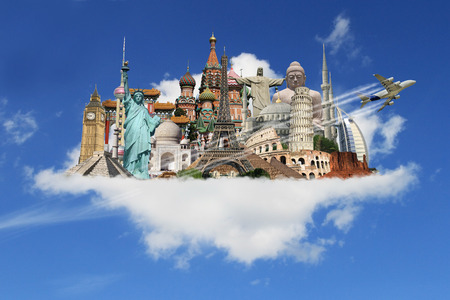 pise: Famous monuments of the world in the clouds Editorial