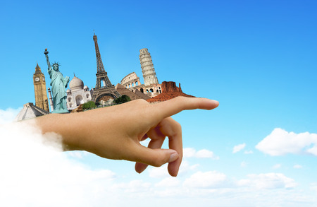 Famous monuments of the world travel concept photo
