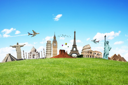 pise: Famous monuments of the world illustrating the travel and holidays Editorial