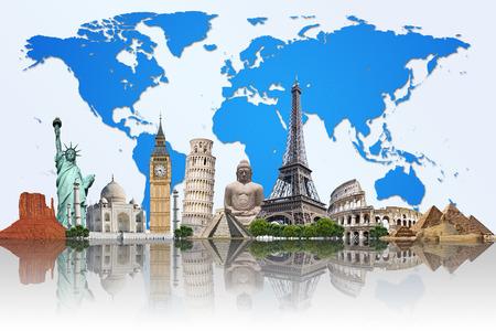 여행 및 휴일을 보여주는 세계의 유명한 기념물 스톡 콘텐츠