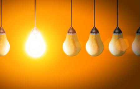 bulb light: Light bulb background eco energy concept illustration