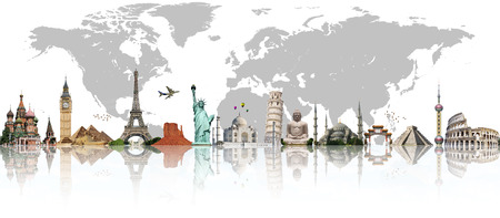 Famous monuments of the world illustrating the travel and holidays Kho ảnh