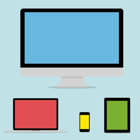 colection: Modern digital tech device flat design colection