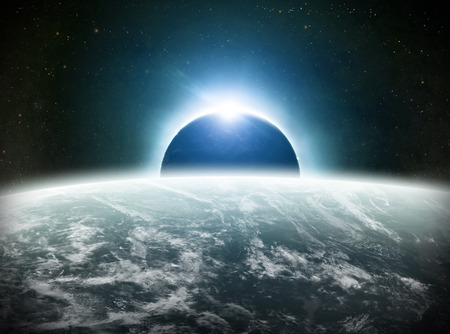 View of the sun during a full moon eclipse