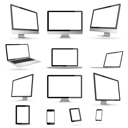 Moderne digitale tech apparaat op een witte achtergrond Stockfoto