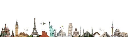 Beroemde monumenten van de wereld illustratie van de reizen en vakanties