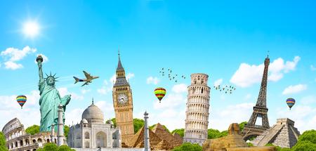 Beroemde monumenten van de wereld gegroepeerd