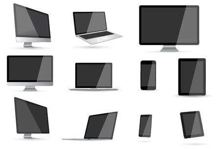 electronic device: Modern digital tech device on white background