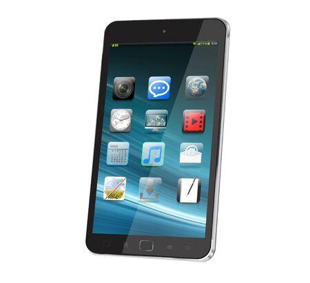 tactile: Modern digital smart phone on white background