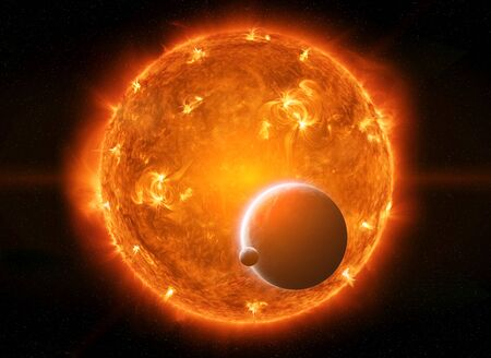 armageddon: Sun exploding close to inhabited planet Earth and moon