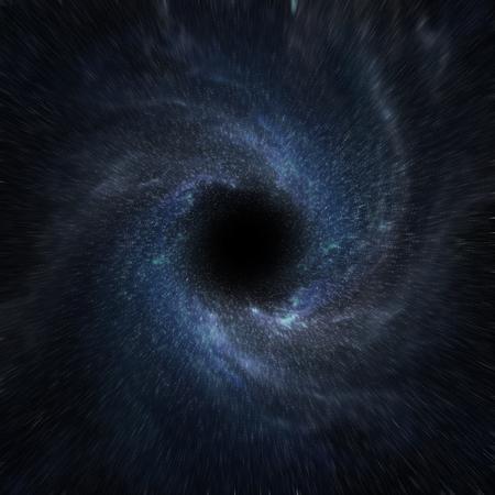 Vista de un agujero negro en el espacio