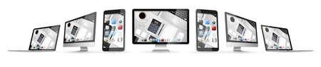 connexion: Modern digital tech device on white background