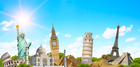 grouped: Famous monuments of the world grouped together