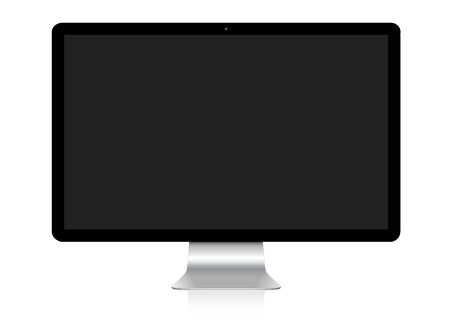 connexion: Modern digital silver and black computer on white background