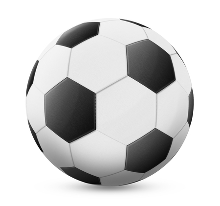 black and white: Black and white football on white background