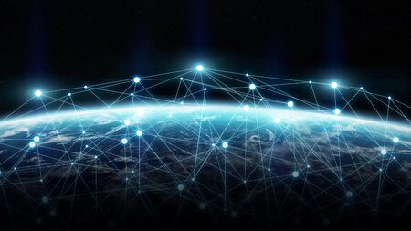 net trade: Network connections between different places of the world