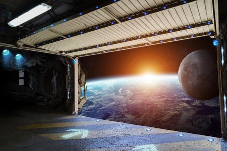 우주 왕복선 활주로에서 지구의 창보기
