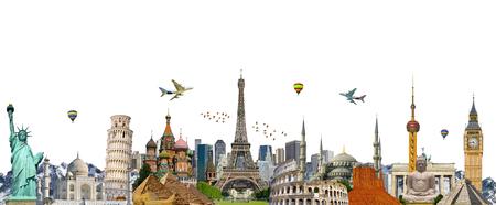 monuments célèbres du monde regroupés