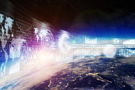 banco mundial: La red y el intercambio de datos sobre el planeta tierra en el espacio