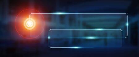 Modern digital tactile interface web address bar
