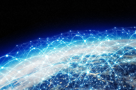 international internet: Network and data exchange over planet earth in space