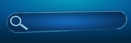 contact: Digital web address search bar on blue background 3D rendering