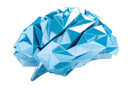 Digital x-ray human brain on white background 3D rendering