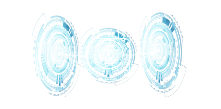 secure: Digital padlock securing datas on white background 3D rendering
