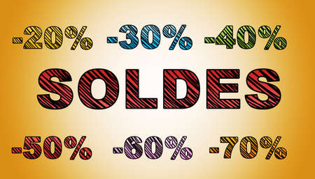 gold: Hand-drawn sales text on gold background