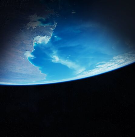 Sunrise on Earth from space 3D rendering elements of this image furnished by NASA
