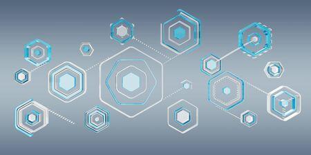 black: Antivirus digital blue interface on grey background 3D rendering Stock Photo