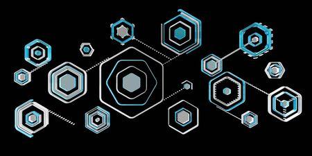 Antivirus digital blue interface on black background 3D rendering Stock Photo