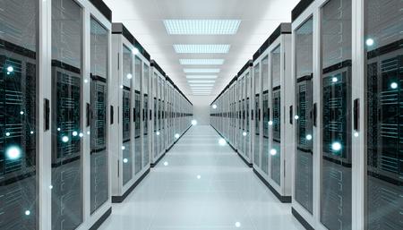 Serveur salle de serveur de données cyber ? ? et des données 3d rendu 3d Banque d'images - 93858230