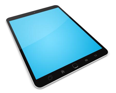 Modern digital tactile tablet on white background 3D rendering Stock Photo