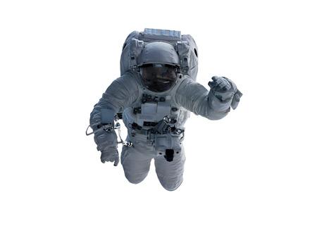 Astronaut zweven geïsoleerd op witte achtergrond 3D-rendering elementen Stockfoto - 94401396