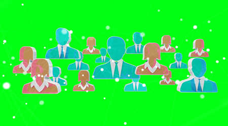 Candidate for a job illustration on green background 3D rendering Stock Photo