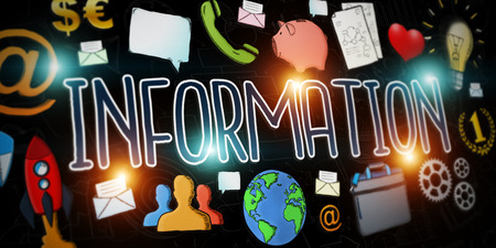 Hand-drawn information text presentation with depth of field focus