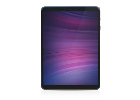 Modern tablet mockup isolated on white background 3d rendering