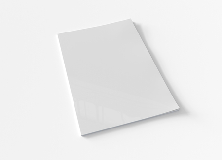 Magazin-Softcover-Modell isoliert auf weißem Hintergrund 3D-Rendering