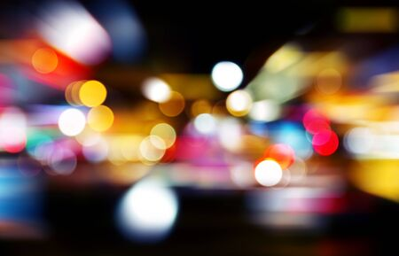 Colorful abstract bokeh backgrounds with speed effect