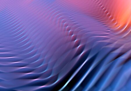 Colorful abstract wavy background with blurred motion effect Banco de Imagens