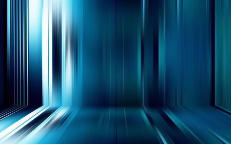 Colorful blue abstract light effect texture wallpaper 3D rendering 写真素材