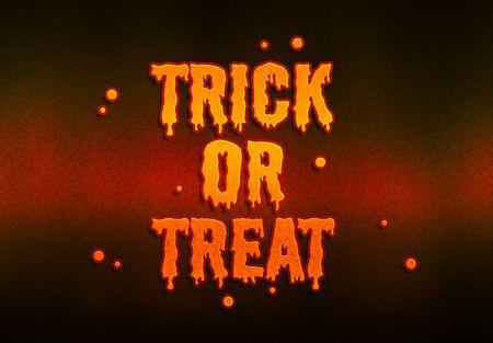 Halloween pumpkin orange text on dark background 写真素材