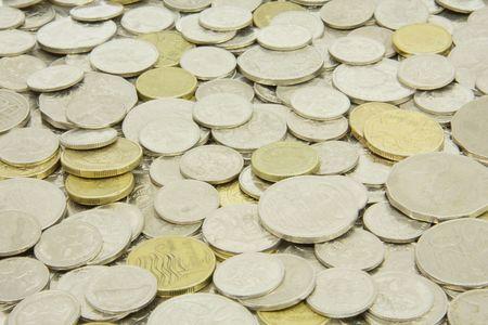 stash: Stash of coins Stock Photo