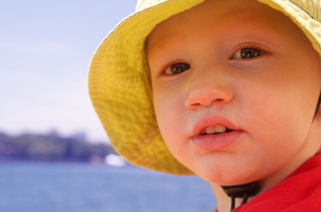 Young boy on water Stock Photo - 4545475