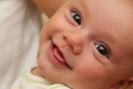 baby gesicht: Smiling Baby Gesicht Lizenzfreie Bilder