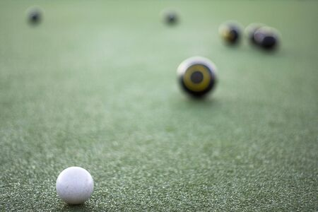 boules: Lawn bowls focussed on jack