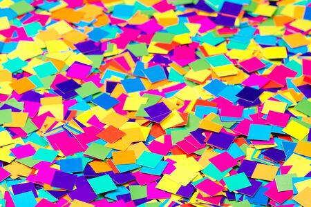 Colorful paper confetti square shapes Stock Photo - 15958277