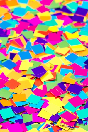 Colorful paper background of colored square shapes Stock Photo - 15958276